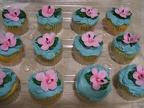 Cupcakes Pink-Flowers